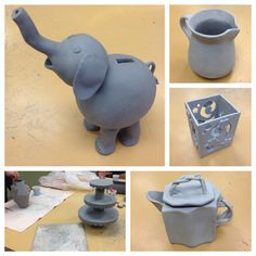 Ceramics 1 midterm projects! Narrated videos are due by 1/23.
