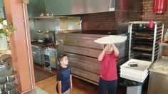 Michael and Nicholas Testa mini pizza tossers🤗