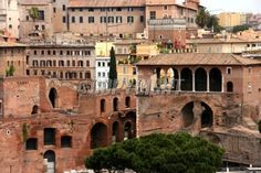 Red tiled roofs and old town centre of Rome, Latium, Italy