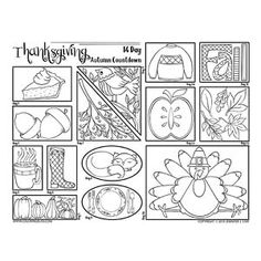 Color every day leading up to Thanksgiving with this fun coloring page. This gives you 2 weeks to creatively celebrate for a moment every day. Thanksgiving doesn't have to be for just one day! Cool Coloring Pages, Printable Coloring Pages, Adult Coloring Pages, Thanksgiving Countdown, Holiday Countdown, New Art, Embroidery Patterns, How To Draw Hands, Calendar