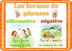Type de phrases (affir.et n/gative