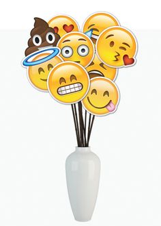Emoji DIY Printable Centerpiece - Instant Download Emoji Centerpiece - 24 Emojis Available- Great for Birthday's, Graduation, or whatever.
