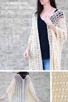 Often times we consider knit and crochet to be winter activities, but some of my all time favorite projects have happened in the summer time! This simple crocheted poncho was so fun to make as it worked up very quickly and it's going to be perfect for warm summer days. The style reminds me of vacation time and it pretty much makes me want to take a trip abroad to some exotic country....aww one can dream. I made a summer poncho (here) last year , and I thought it would be nice to make a d...