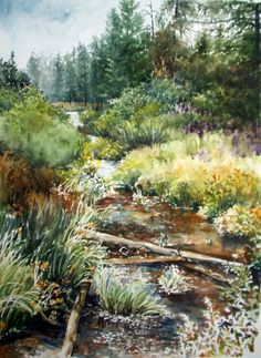 Island Park by Terrace Beesley, he has some good information on using water colour paints.