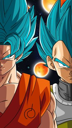 SSB Goku and Vegeta (Phone Wallpaper) by RayzorBlade189 on DeviantArt