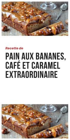 Recette de Pain aux Bananes, Café et Caramel Extraordinaire #recettedepain #painaubanane #bananecaramel #recettedessert #recettecafe #recettecaramel Croissant, Flan, French Toast, Muffins, Food And Drink, Cupcakes, Yummy Food, Sweets, Bread