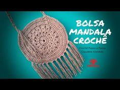 Step by Step Crochet Mandala Bag – Bag Ideas Crochet Squares, Crochet Stitches, Easy Crochet, Knit Crochet, Crochet Pencil Case, Crochet Wallet, Step By Step Crochet, Crochet Mobile, Embroidery