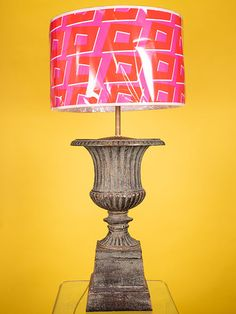 LARGE CAST IRON TABLE LAMP WITH SHADE