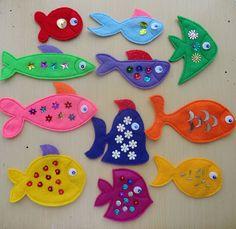 Kit for Gone Fishing Magnetic Felt Game by LindyJDesign on Etsy