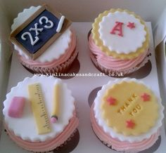 Image result for best teacher cupcakes
