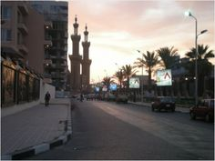 Evening in Port Said, Egypt, Africa.