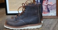 "Red Wing Heritage 8883 Classic Moc 6"" Concrete Rough & Tough Leather"