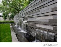 With around 2 for landscape renovation, the hotel is located in an historical resort in Hangzhou. Existing mature trees must be protected and are to be incorporated within the design of the renovated courtyard. Yard Stones, Outdoor Waterfalls, Monument Signs, Boundary Walls, Garden Waterfall, Backyard Water Feature, Pond Design, Water Walls, Water Element