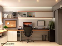 Home Office Layouts, Home Office Setup, Home Office Space, Design Studio Office, Office Interior Design, Office Interiors, Modern Home Offices, Small Home Offices, House Ceiling Design