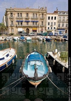 Muelle y barcos, Sete, Herault, languedoc_roussillon, Francia