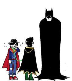 Batman has no words to say😂😂 Superman X Batman, Superhero Family, Superman Family, Marvel Avengers, Marvel Comics, Marvel Fanart, Robin Comics, Arte Dc Comics, Batman Universe