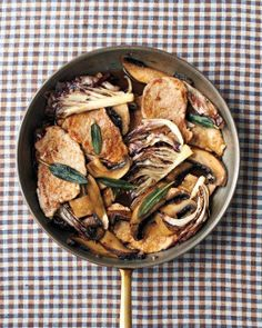 Scallopini Alla Marsala. You can also make it with veal, chicken, or turkey instead of pork.
