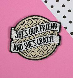 Eggo Iron On Patch // patchgame embroidered patch stranger. Eggo from Stranger Things Iron On Patch from Punky Pins. she is our friend and she is crazy! Stranger Things Patches, Stranger Things Pins, Stranger Things Merchandise, Stranger Things Aesthetic, Stranger Things Clothing, Cute Patches, Diy Patches, Pin And Patches, Iron On Patches