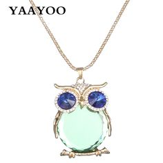 YAAYOO Jewelry 18 Colors Newest Fashion Women Long Owl Pendant Gold/Silver Plated Glass/Crystal Necklaces Pendants For Women     Tag a friend who would love this!     FREE Shipping Worldwide     Get it here ---> http://jewelry-steals.com/products/yaayoo-jewelry-18-colors-newest-fashion-women-long-owl-pendant-goldsilver-plated-glasscrystal-necklaces-pendants-for-women/    #red_bottom_shoes
