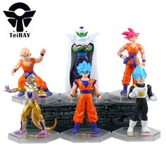 "6Pcs Japan Anime Figuarts Dragon Ball Z Super Saiyan Goku Vegeta Frieza Kuririn Piccolo pvc action figures Brinquedo kids toy 4"""