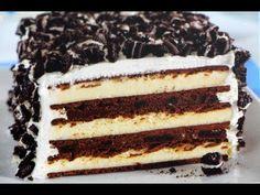 Pastel de OREO con nieve/helado! (sin hornear) - YouTube