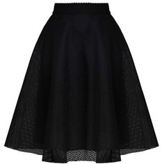 New Look A-line skirt black ($33) ❤ liked on Polyvore featuring skirts, knee length a line skirt and a-line skirts