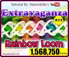 Rainbow Loom #33 Extravaganza Bracelet By TutorialsByA