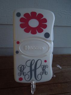Personalized Wipes Case - Baby Shower Gift - New Baby. $7.50, via Etsy.