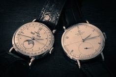 https://flic.kr/p/QTp7P5 | Vintage Omegas | These guys have been ticking on for 70 years...
