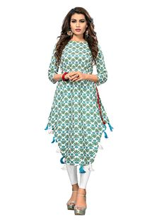 Indian Designer Outfits, Designer Dresses, Designer Kurtis, Shirt Style Kurti, Angrakha Style, Silk Kurti, Printed Kurti, Printed Cotton, Kurta Designs Women