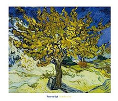 The Mulberry Tree by Vincent Van Gogh, 1889 I love the lines of the leaves in the tree, they look zig zagged and wild.
