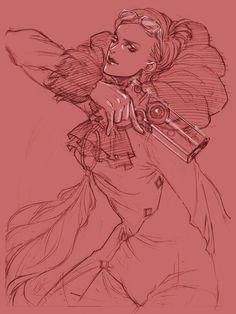 Jeanne Sketch - Characters & Art - Bayonetta