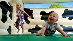 Bouncy castle fun for little ones at Farmer Palmer's Farm Park | Poole. Great kids days our ideas in Dorset | UK