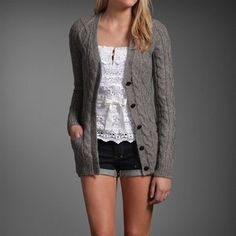 Love the sweater but the whole outfit is cute. Summer nights?