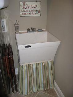 Amazing Utility Sink Skirt, Laundry Room Makeover   Homey   Pinterest   Utility  Sink Skirt, Sink Skirt And Utility Sink