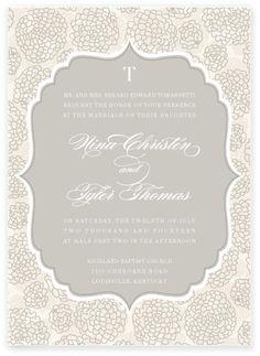 Mum wedding invitation from Tie That Binds
