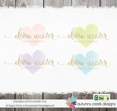 Photography Logos and Watermarks Premade logo Designs Heart