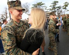 Marine Corps photo by Sgt. Military Couples, Military Girlfriend, Military Love, Military Photos, Military Couple Photography, Military Relationships, Relationship Goals, Homecoming Pictures, Senior Pictures