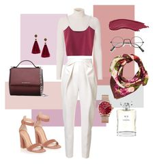 """""""Hijab fashion No. 2"""" by liyanahlm on Polyvore featuring Givenchy, A.L.C., Delpozo, Gianvito Rossi, Echo, Thomas Sabo, Kate Spade, Chanel and burgundy"""