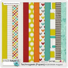 Quality DigiScrap Freebies: Techno Geek paper pack freebie from Kristin Aagard Designs