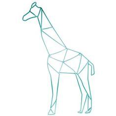 Teal Geometric Giraffe Metal Wall Decor diy different animals