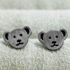 Bear Studs Pandora Like Bracelets, Bridal Jewelry, Studs, Baby Shoes, Bear, Bridal Bridal Jewellery, Stud Earring, Baby Boy Shoes, Bears