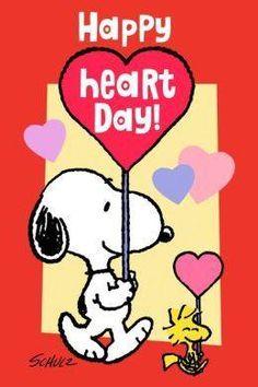 Snoopy Peanuts Happy Heart Day