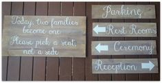 Timber wedding signs created by Marlee & Ash Pick A Seat, Wedding Signs, Ash, Reception, Create, Decor, Wedding Plaques, Grey, Dekoration
