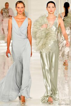 Ralph Lauren Spring 2012, ready-to-wear collection (pale blue and sage green)