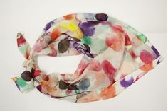 Watercolour silk scarf - Emily Green