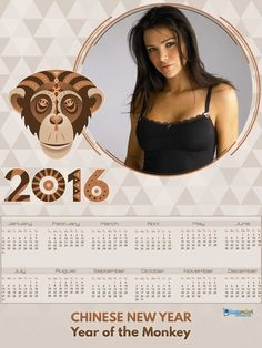 New photo template for Calendar 2016! Perfect gift! http://photomica.com/cards/Calendar_Template_for_free.php