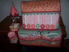Sewing machine cover and mat with pockets