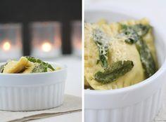 Ravioli selber machen mit Maronen und Salbeibutter Pesto Pasta, Gnocchi, Mashed Potatoes, Veggies, Yummy Food, Lunch, Dinner, Cooking, Ethnic Recipes