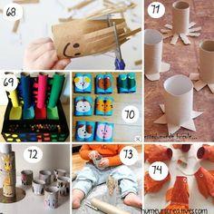 80 bricolages pour enfants à faire avec des rouleaux de papier toilette - Origami, Deco, Kids, Diy Sac, Crafts, Montessori, Stage, Education, Toilet Paper Rolls